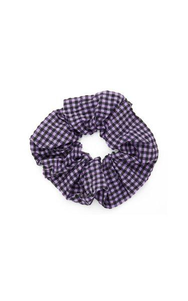 Gingham Cotton-Blend Seersucker Hair Tie
