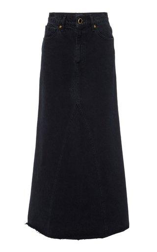 Magdelena Dark-Wash Denim Maxi Skirt