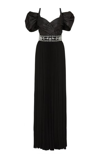 Crystal-Embellished Taffeta Gown