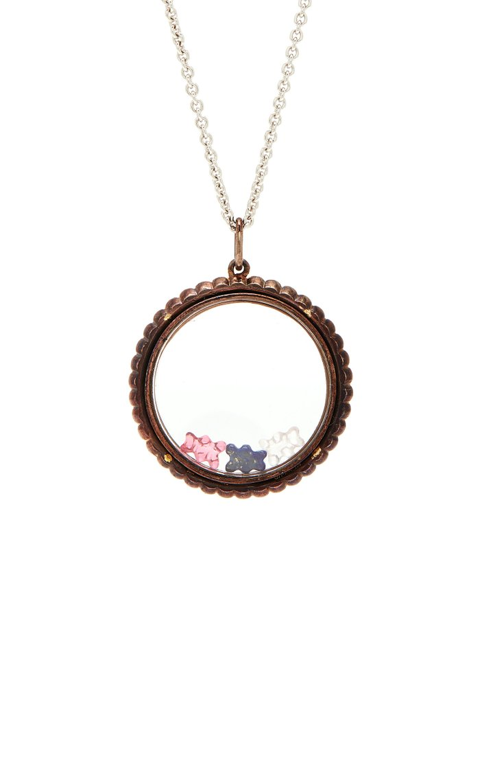 Gummy Bear 18K White Gold, Pearl and Multi-Stone Necklace