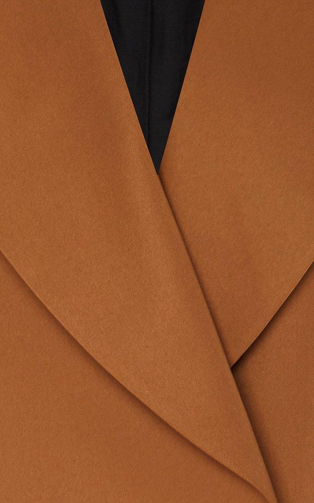 Color-Blocked Twill Blazer