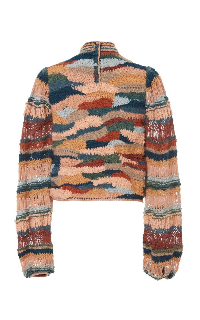 Eliya Intarsia-Knit Wool Sweater