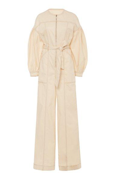 Akiba Belted Cotton Wide-Leg Jumpsuit