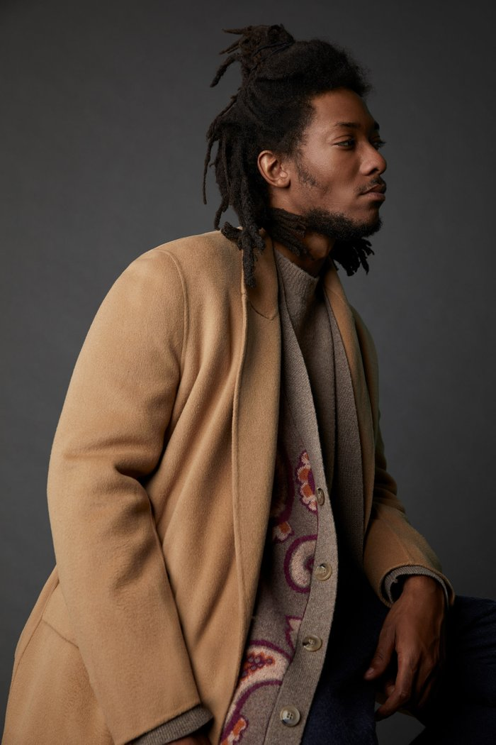 Aiden Double-Breasted Wool-Blend Jacket
