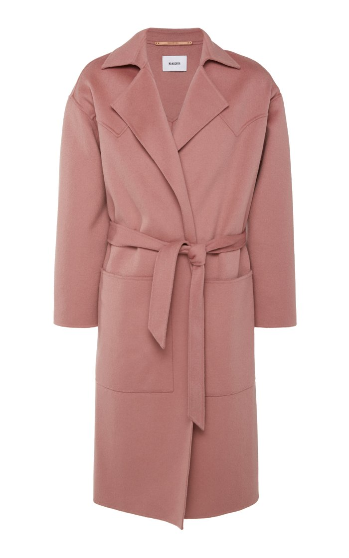 Timo Belted Wool-Blend Coat