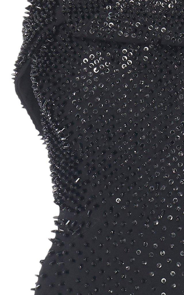 Crystal-Embellished Crepe Dress