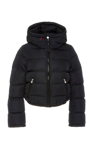 Polar Flare Hooded Quilted Shell Down Jacket