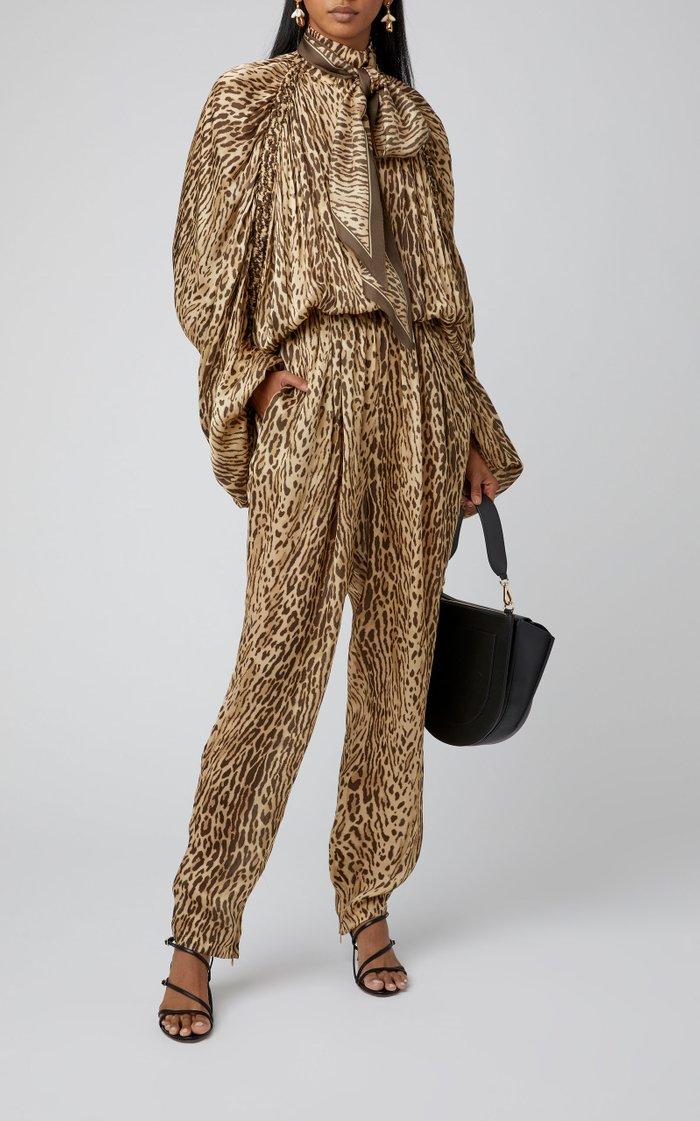 Printed Silk-Chiffon Jumpsuit