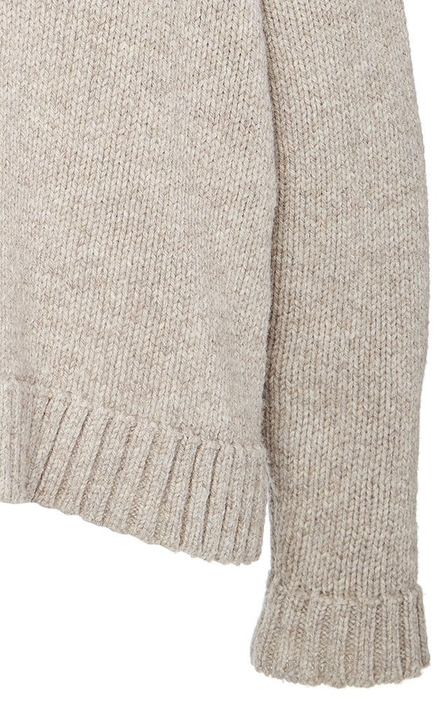 Shawl Collar Merino Wool Sweater