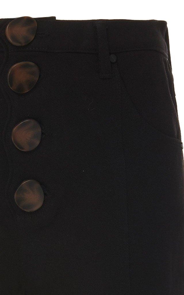 Tana High-Waist Scalloped-Front Denim Jeans