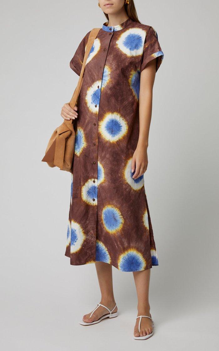 Tie-Dye Cotton-Jersey Midi Dress