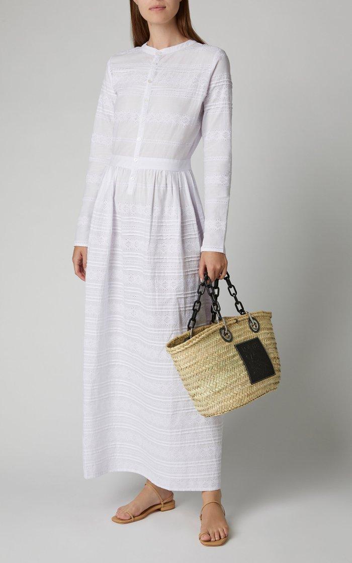 Elke Embroidered Cotton-Gauze Maxi Dress