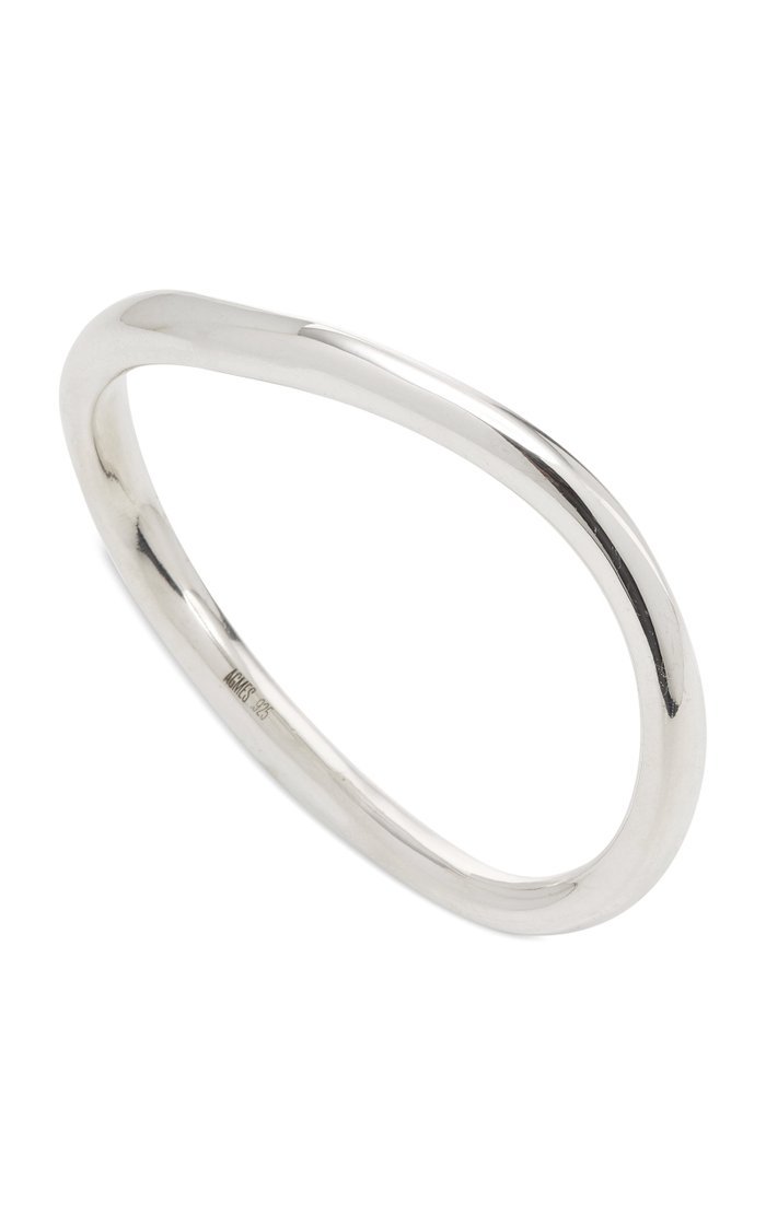 Gabriela Thick Sterling Silver Bangle