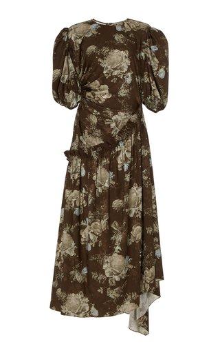 Ophelie Floral-Print Jersey Midi Dress