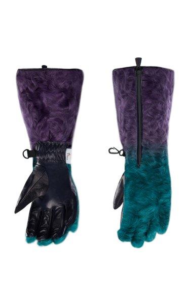 3 Moncler Grenoble Genius Padded Tech-Shearling Gloves