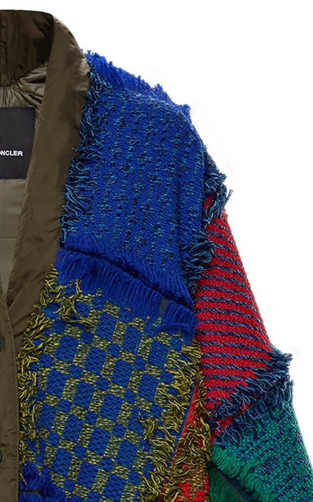 3 Moncler Grenoble Genius Padded Knitted Ski Poncho