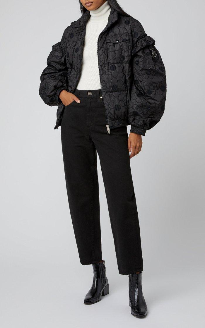 + Simone Rocha Akela Floral-Appliquéd Shell Jacket