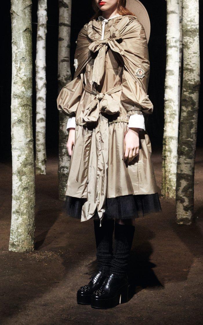 + Simone Rocha Ellen Bow-Detailed Shell Hooded Coat
