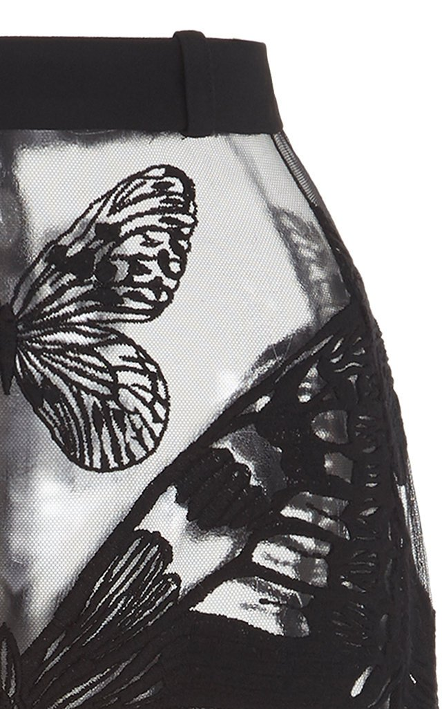 Butterfly Net Lace Midi Skirt
