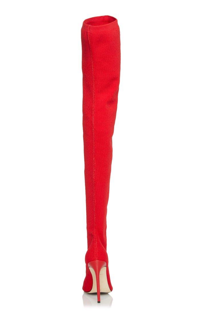 Jasmine Stretch-Knit Thigh Boots