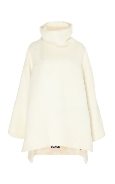 Jodi Oversized Wool-Blend Turtleneck Top