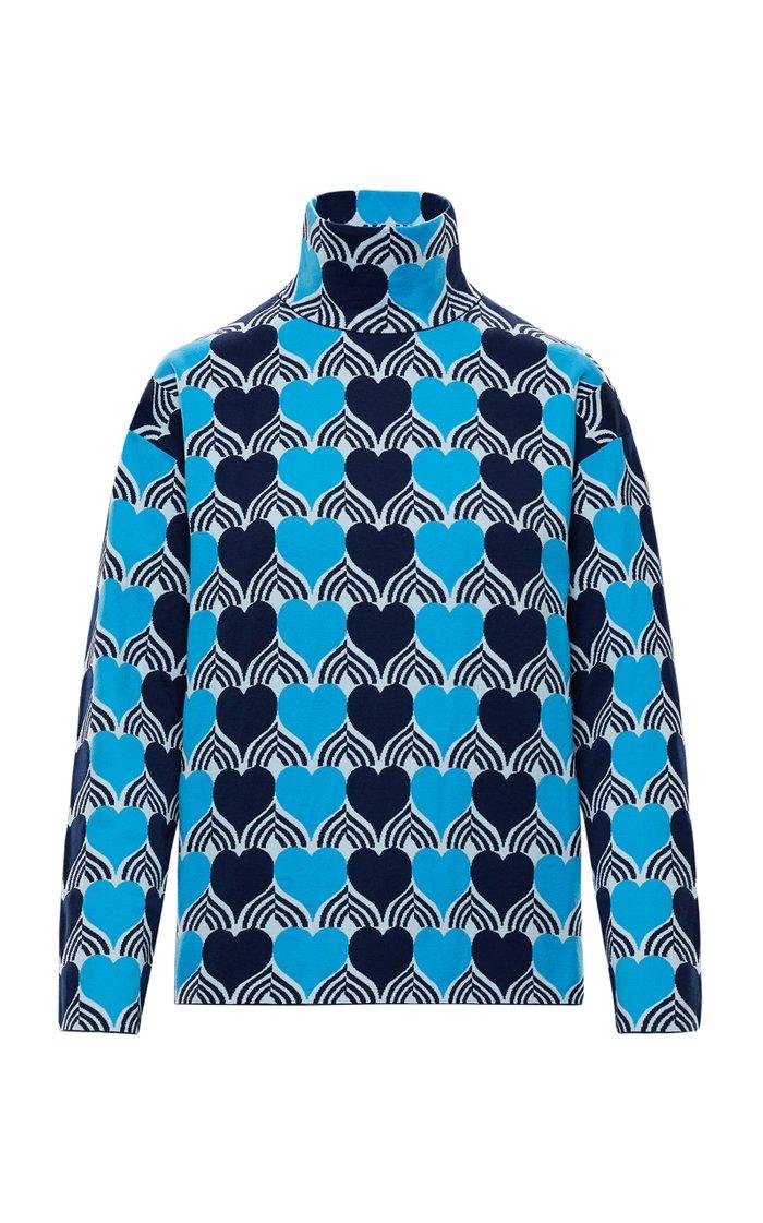 3 Moncler Grenoble Genius Graphic Stretch Turtleneck Sweater