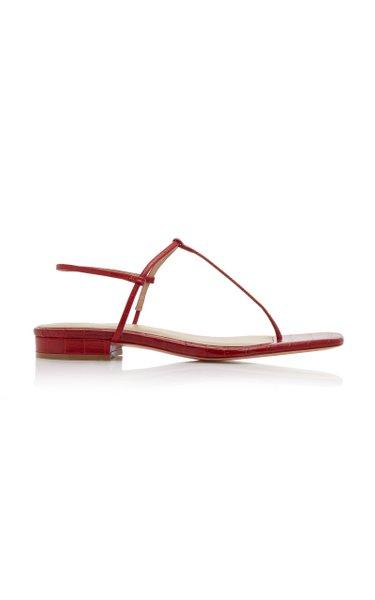 1.4 Croc-Effect Leather Sandals
