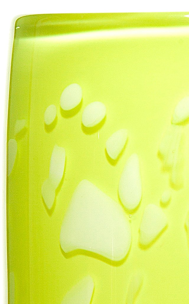 Neon Lime & White Spotted Cylinder Vase