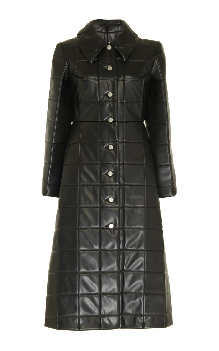 Miss Roboto Quilted Faux Leather Coat