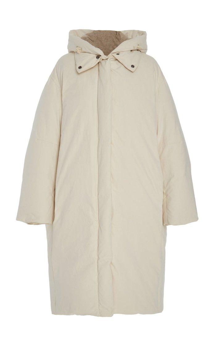 Oversized Hooded Shell Down Coat