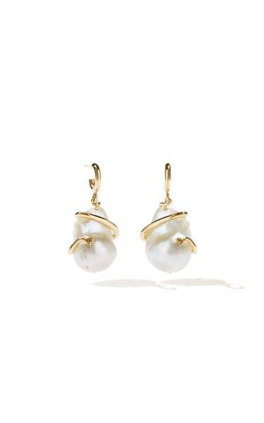 Medusa Coiled Pearl Earrings