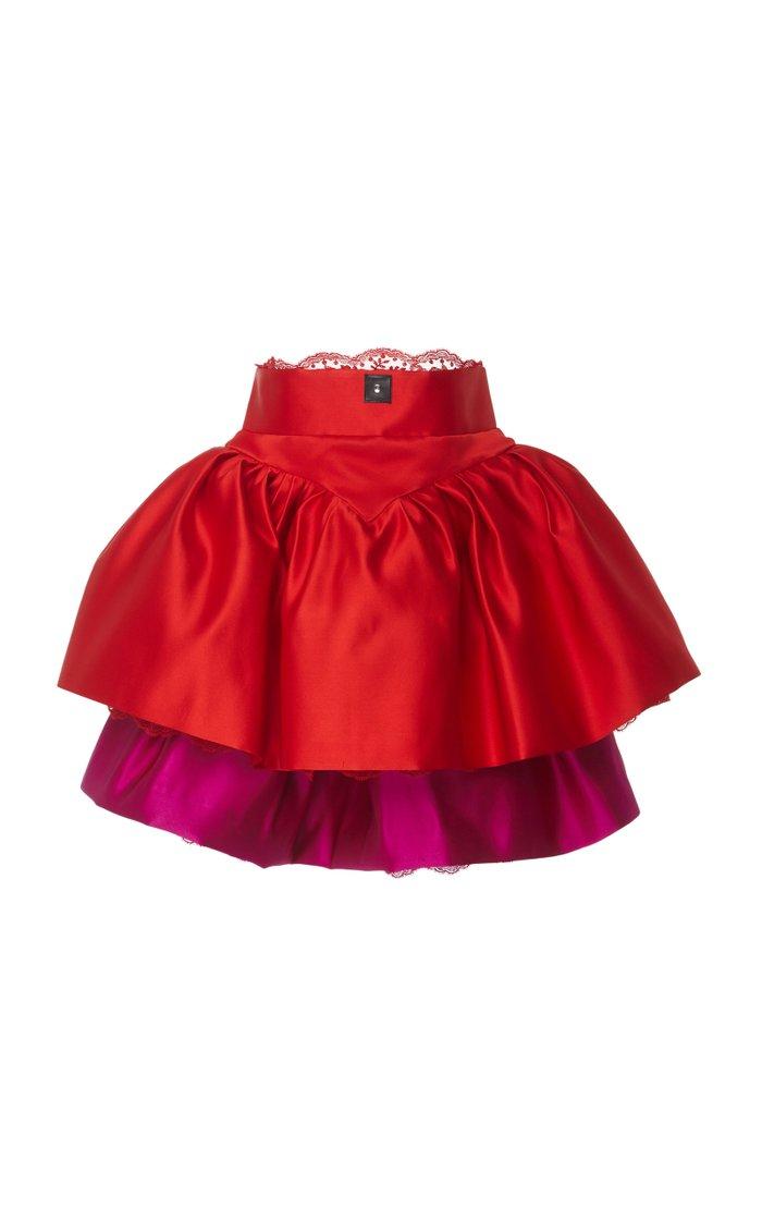 Cupcake Tiered Satin Mini Dress