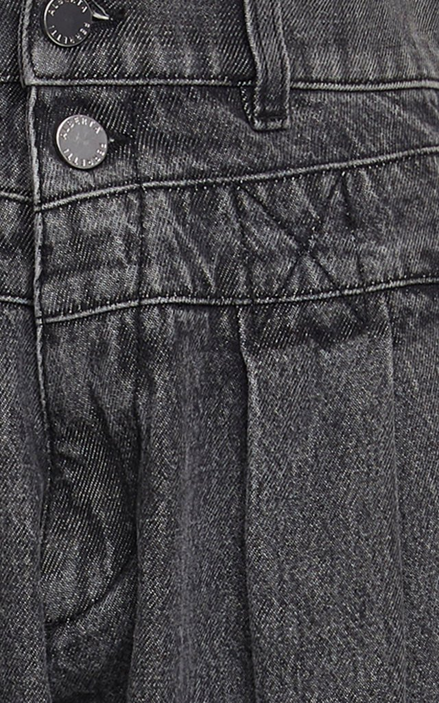 Garment-Dyed High-Rise Jeans