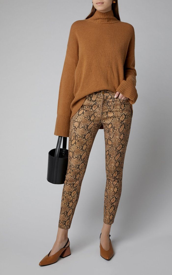 Le High High-Rise Printed Cropped Skinny Jeans
