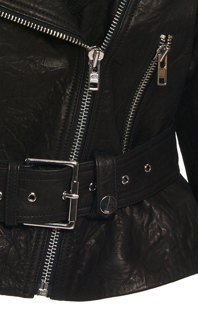 Charlie Textured-Leather Biker Jacket