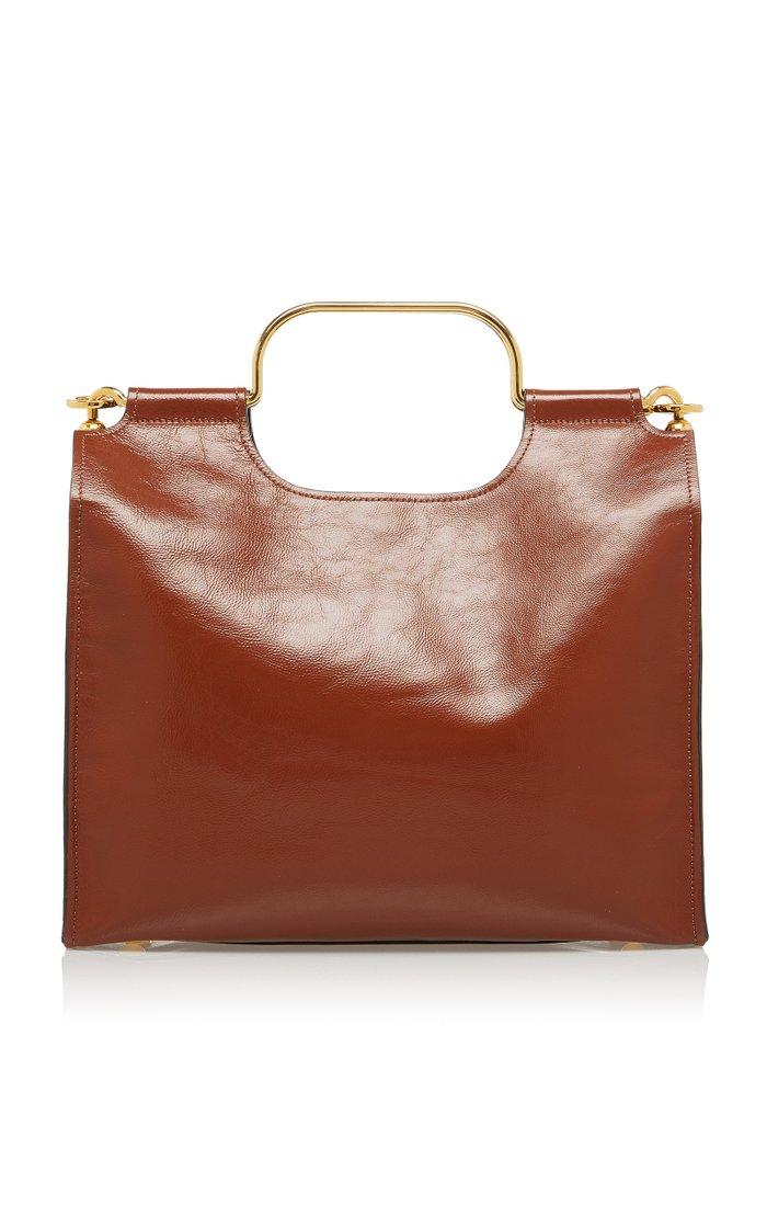 Small Square Patent Leather Tote
