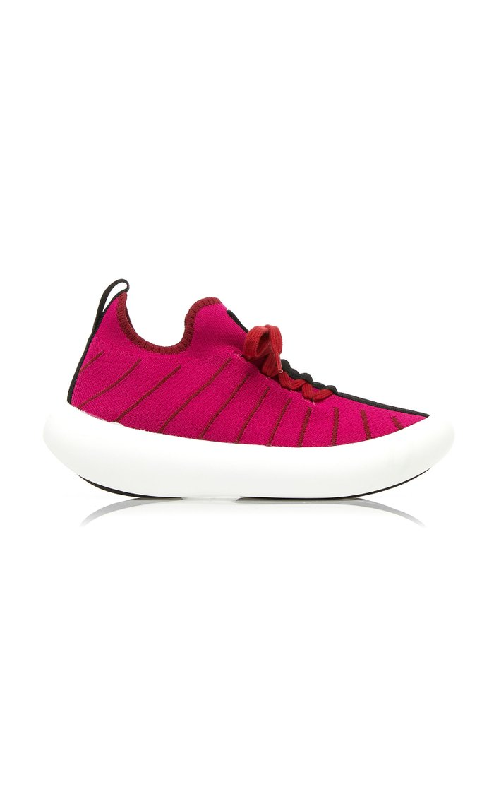 Striped Stretch-Knit Sneakers