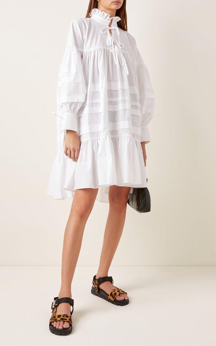 Cotton Macy Ribbon Tie Dress