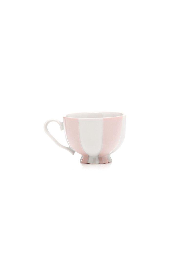 Set-Of-Four Melon Service Espresso Cups and Saucers