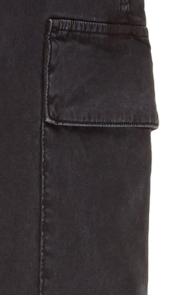 Gaia Cropped Cotton-Twill Cargo Pants