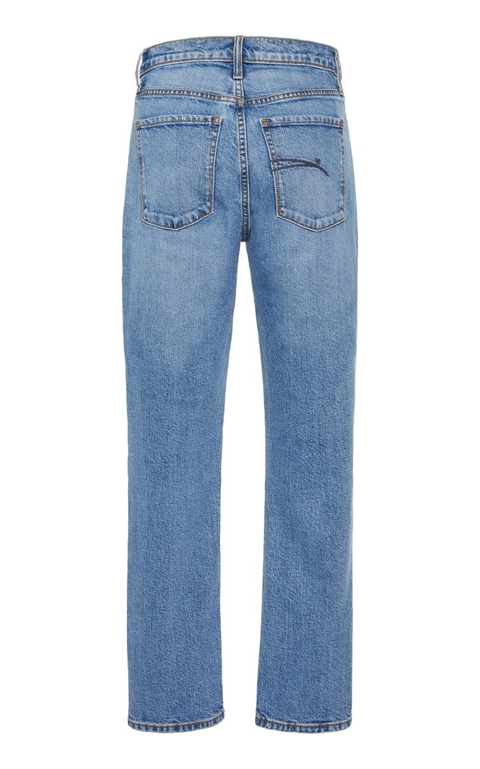 True Cropped High-Rise Slim-Leg Jeans