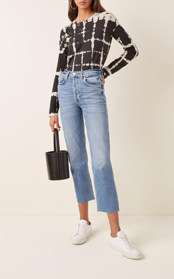 High-Rise Straight Leg Jeans