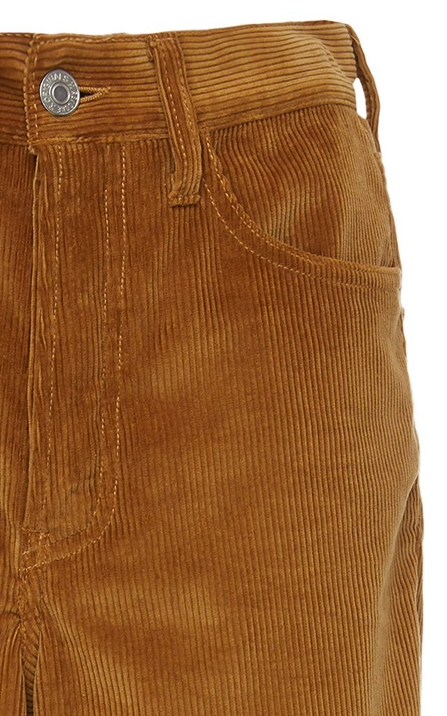 Cotton-Corduroy Flared Pants