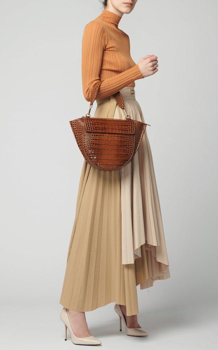 Hortensia Medium Croc-Effect Leather Bag