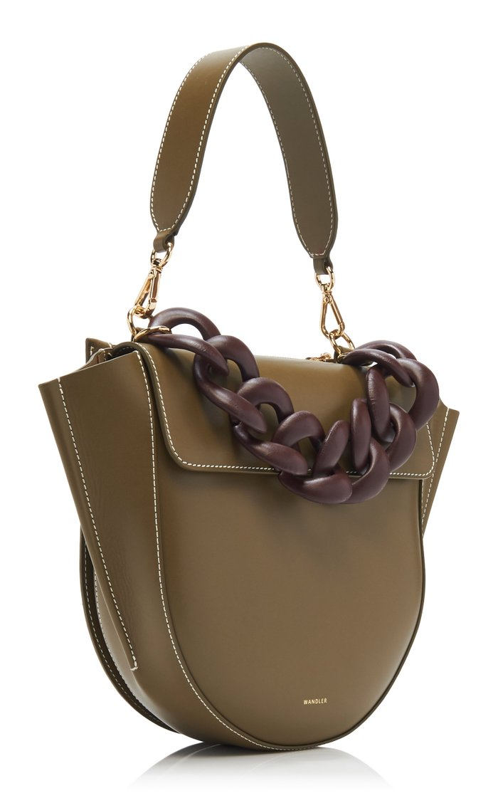 Hortensia Medium Chain-Detailed Leather Bag