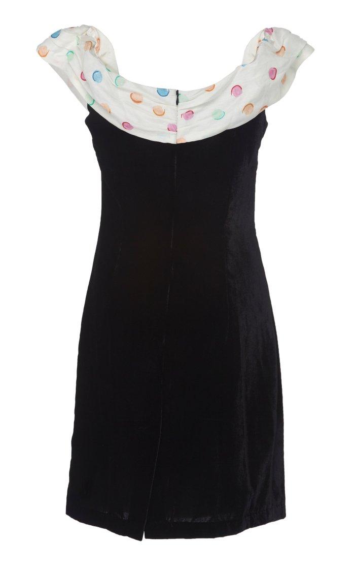 Florence Off-The-Shoulder Crepe Mini Dress