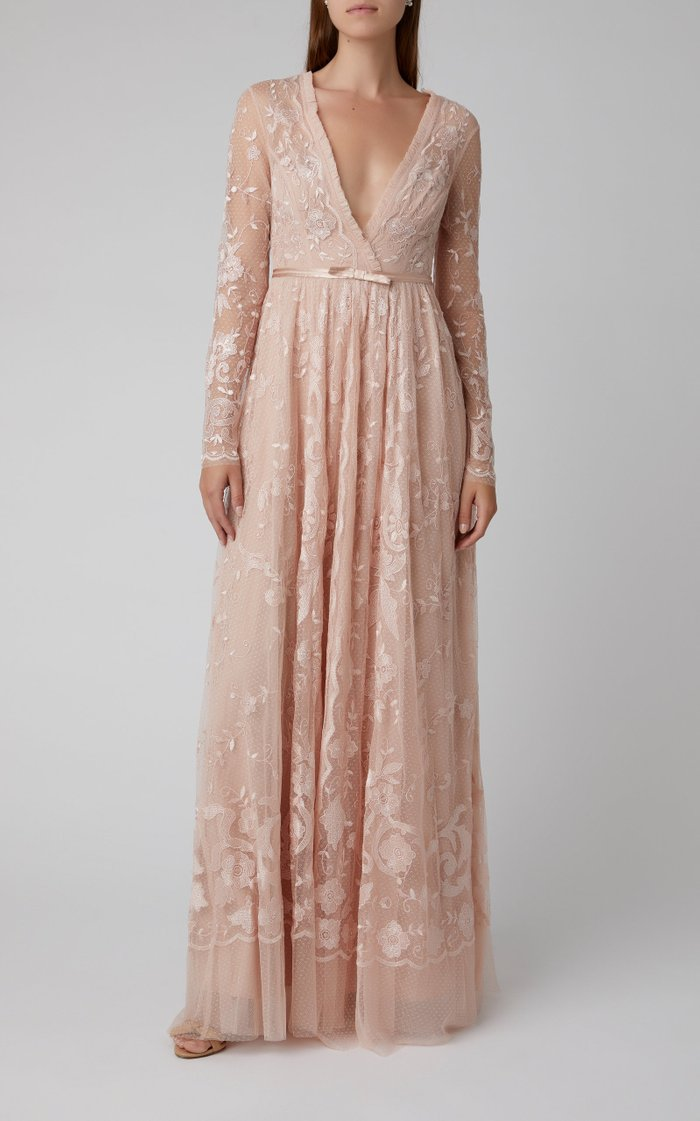 Eleanor Embroidered Multi-Layer Tulle Gown