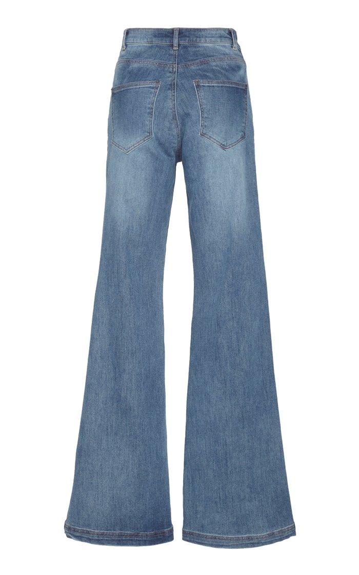 Secretos De Las Olas Mid-Rise Wide-Leg Jeans