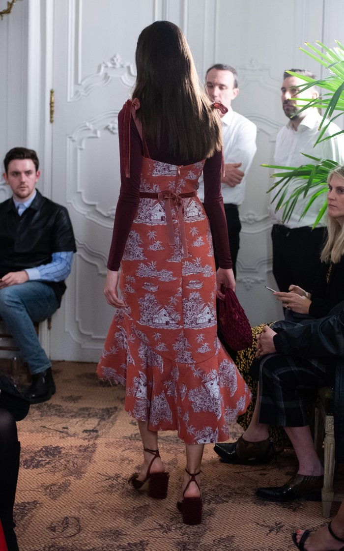 Puebla Nativo Printed Cotton-Blend Midi Dress