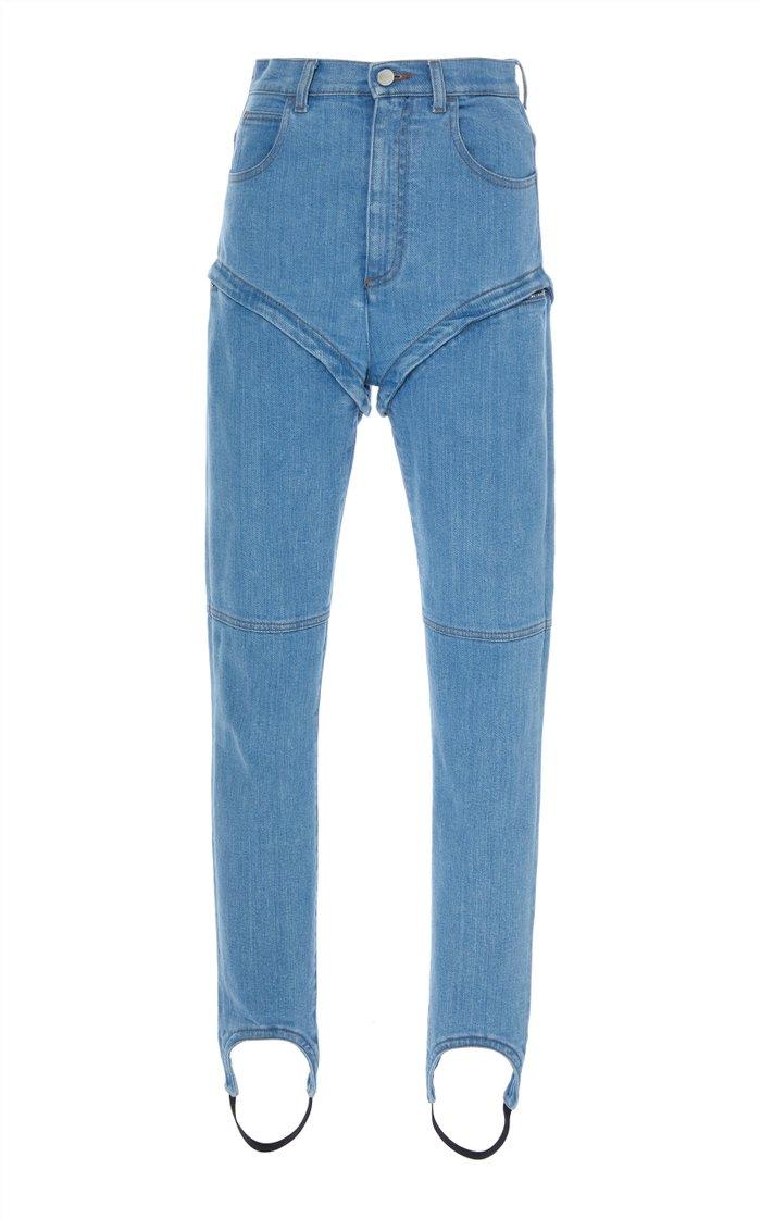 High Waisted Skinny Stirrup Jeans
